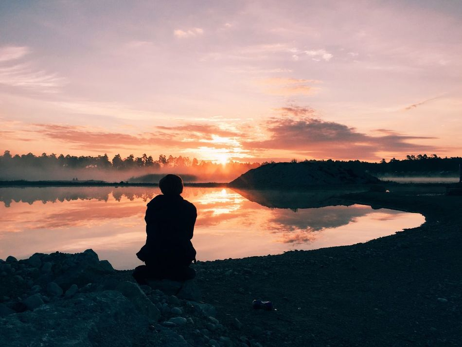 Beautiful stock photos of sweden, Beauty In Nature, Getting Away From It All, Idyllic, Lakeshore