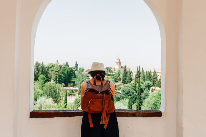 Granada, Andalucia, Spain Alhambra Ancient Ancient Architecture Ancient Civilization Andalucía Andalusia Arabic Arabic Style Architecture Confidence  Cowboy Hat Day Granada Hat One Person Outdoors Palace People Portrait SPAIN Fresh On Market 2017