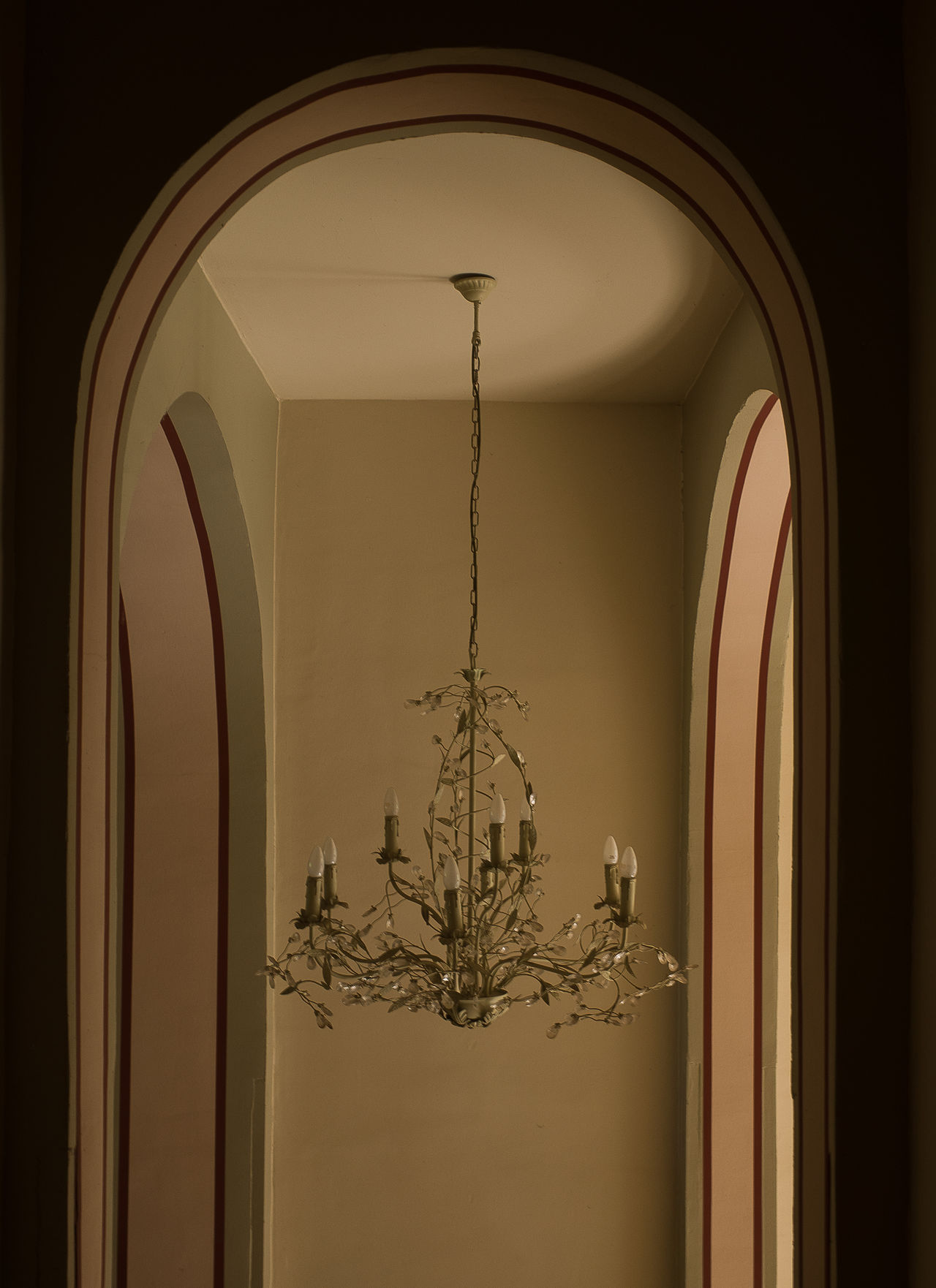 Architecture Darkness And Light Indoors  Lamp No People Old Hallways