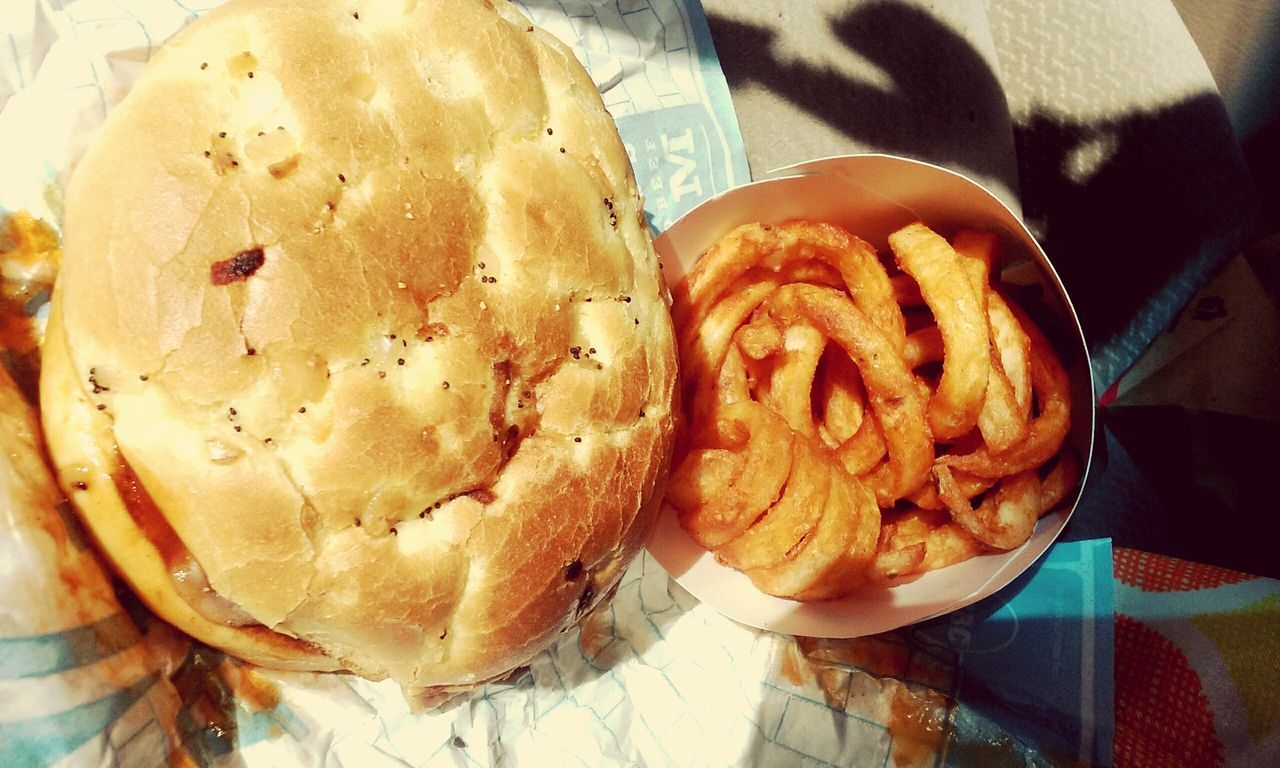 Show Us Your Takeaway! CurlyFries Juicy Burger Foodlover