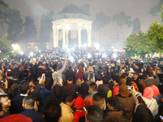 Persian Persia Hafez لحظه تحویل سال ۱۳۹۴ در حافظیه Happy New Years  Meetings Happy People People Romantic❤