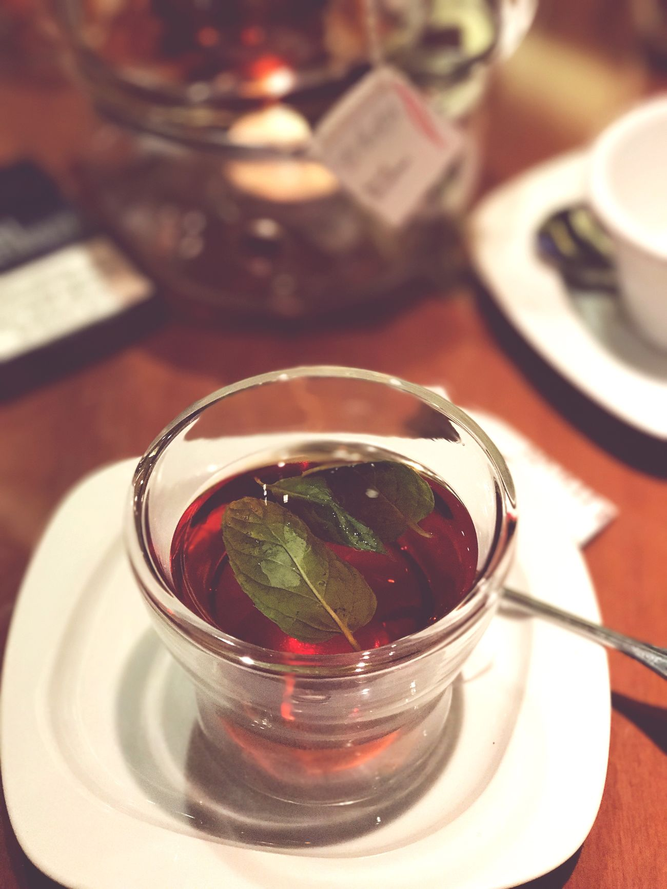 Tea - Hot Drink Food And Drink Tea Cup Drink Mint Tea Teapot Refreshment Indoors  Focus On Foreground Close-up IPhoneography IPhone Photography IPhone7Plus Iphonesia Iphone7plusphoto