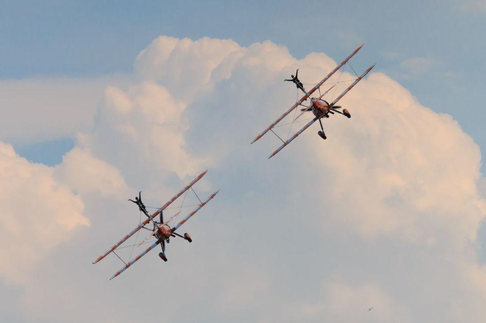 Adventure Club Breitling Cloud - Sky Flyng National Museum Of Flight Orange Color Outdoors Sky Stunts