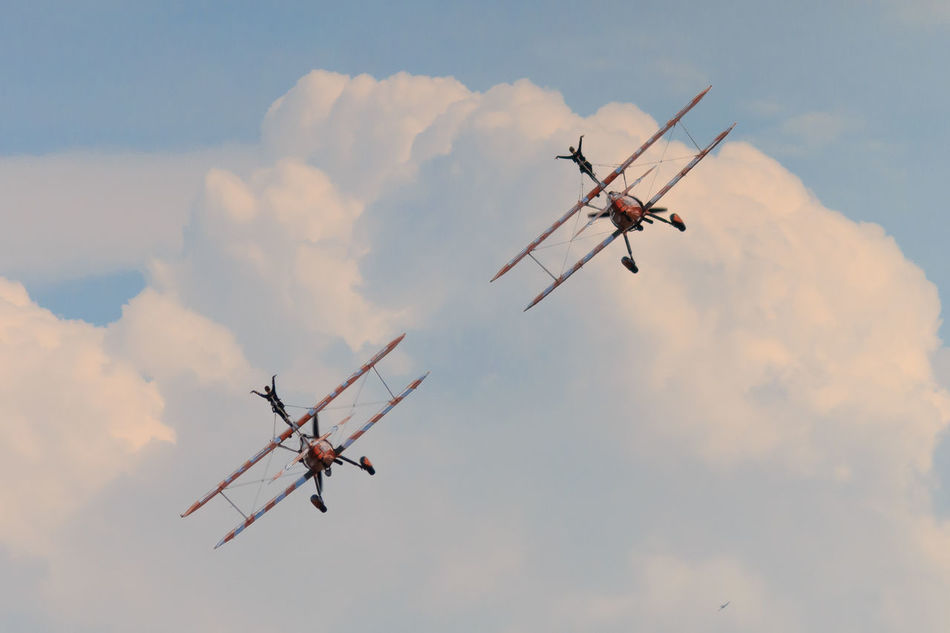 Adventure Club Breitling Cloud - Sky Flyng National Museum Of Flight Orange Color Outdoors Sky Stunts