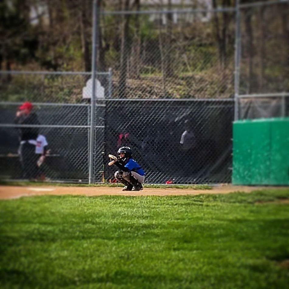My boy catching! !! Littleleague Boys Pennsylvania Pennridgelittleleague PLL  Baseball Perkasie Mysoniscuterthanyours MyBoy Son Playball Catcher