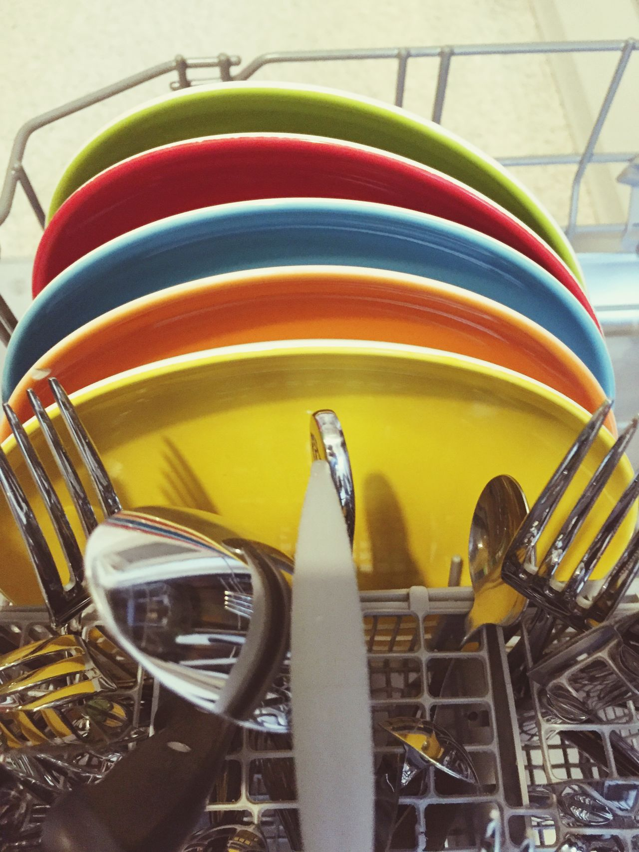 Dishwasher Dishwashing Plate Plates Color Colors Colorful Rainbow Rainbow Colors Beauty In Ordinary Things
