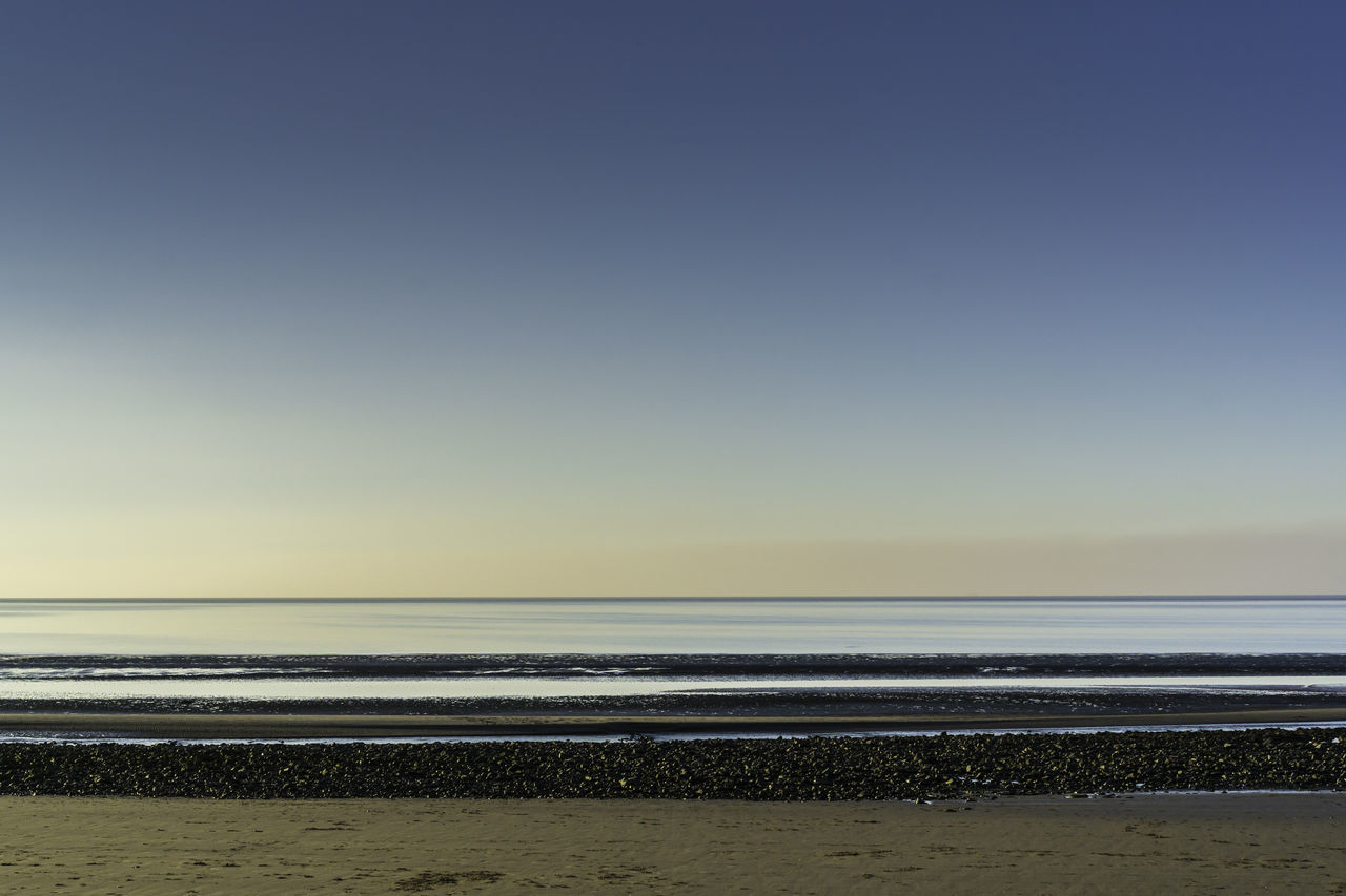 Beach Beauty In Nature Clear Sky Day Horizon Over Water Minimal Minimalism Minimalist Minimalistic Minimalmood Nature No People Outdoors Rule Of Thirds Sand Scenics Sea Sky Sunset Sunset_collection Tranquil Scene Tranquility Travel Wales Water