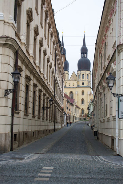 Architecture Building Building Exterior Built Structure Church City Clear Sky Cobblestone Day Diminishing Perspective Empty Old Town Place Of Worship Religion Spirituality Street The Way Forward Vanishing Point Walkway