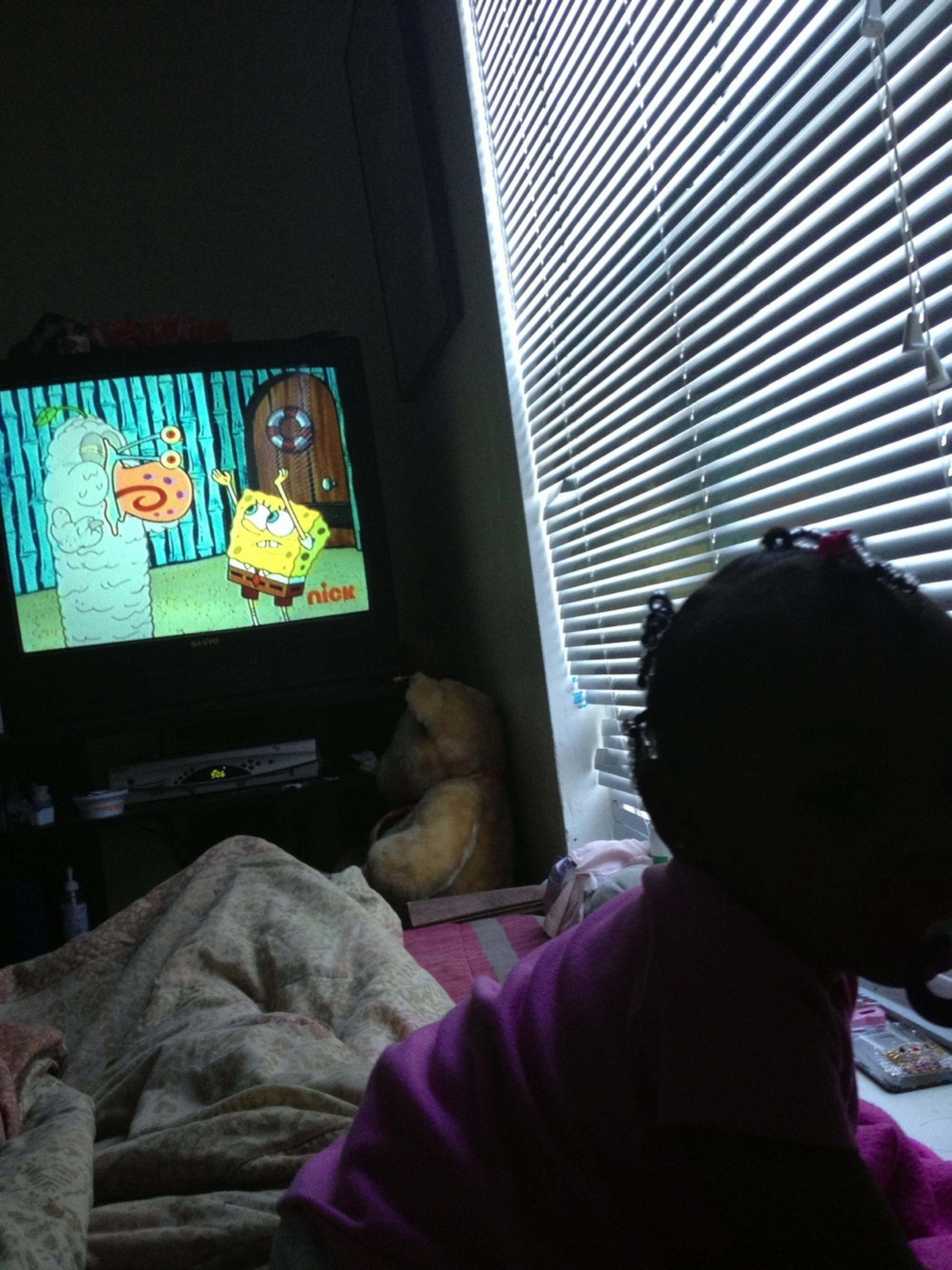 Watching Spongebob W. My Love Kimora ❤