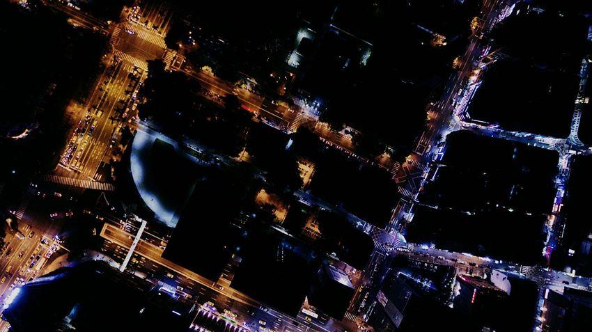 Dji Djiglobal Mavic Pro Taipei Night Lights Dronephotography Drone  Nightphotography Night View Drone View Street City Taipei Sky Aerial View High Angle View Cityscape