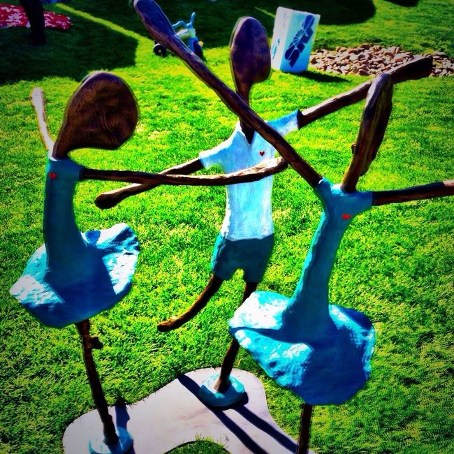 Jim Burish has great bronze art at the Scottsdale Arts Festival IPhoneography Art