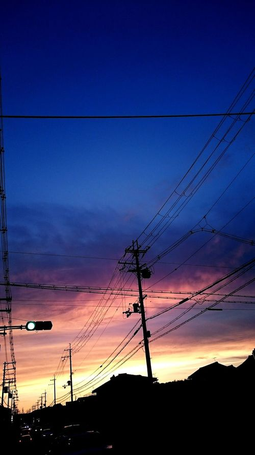 車ほしいな~ 空 夕陽 夕焼けこやけ ゆうやけこやけ部 ゆうひ ゆうやけ