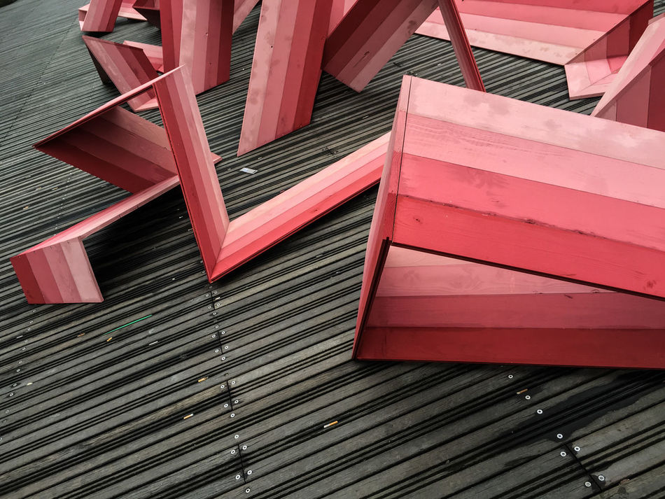 Abstract Art (1/4)... Built Structure Close-up Color Full Frame Geometric Shape Low Angle View Minimalism Minimalobsession Pattern Wood - Material Art Is Everywhere