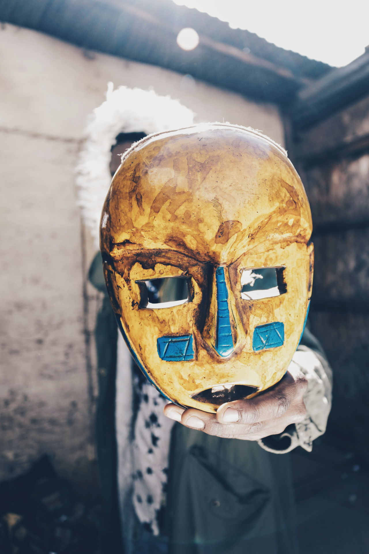 Close-up Day Outdoors Boys Abstract Standing Mask - Disguise Arts Culture And Entertainment Spooky Lifestyles Africa Teenagers  Teenagers  Canon Camera Detail EyeEm Gallery Leisure Activity Streetphotography EyeEmNewHere Portrait Disguise Casual Clothing Africa