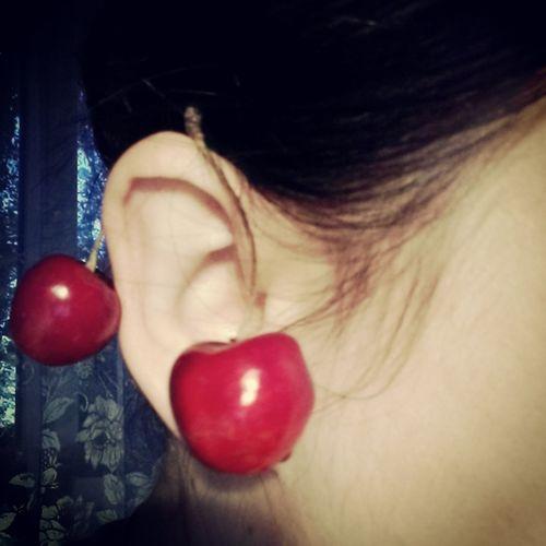 Cherry mood 🍒 Cherry Yummy Mood Ear Ilovecherry Cherryberry Earrings Sweet Delicious Sulikopics Tenderness Goodvibes Break The Mold