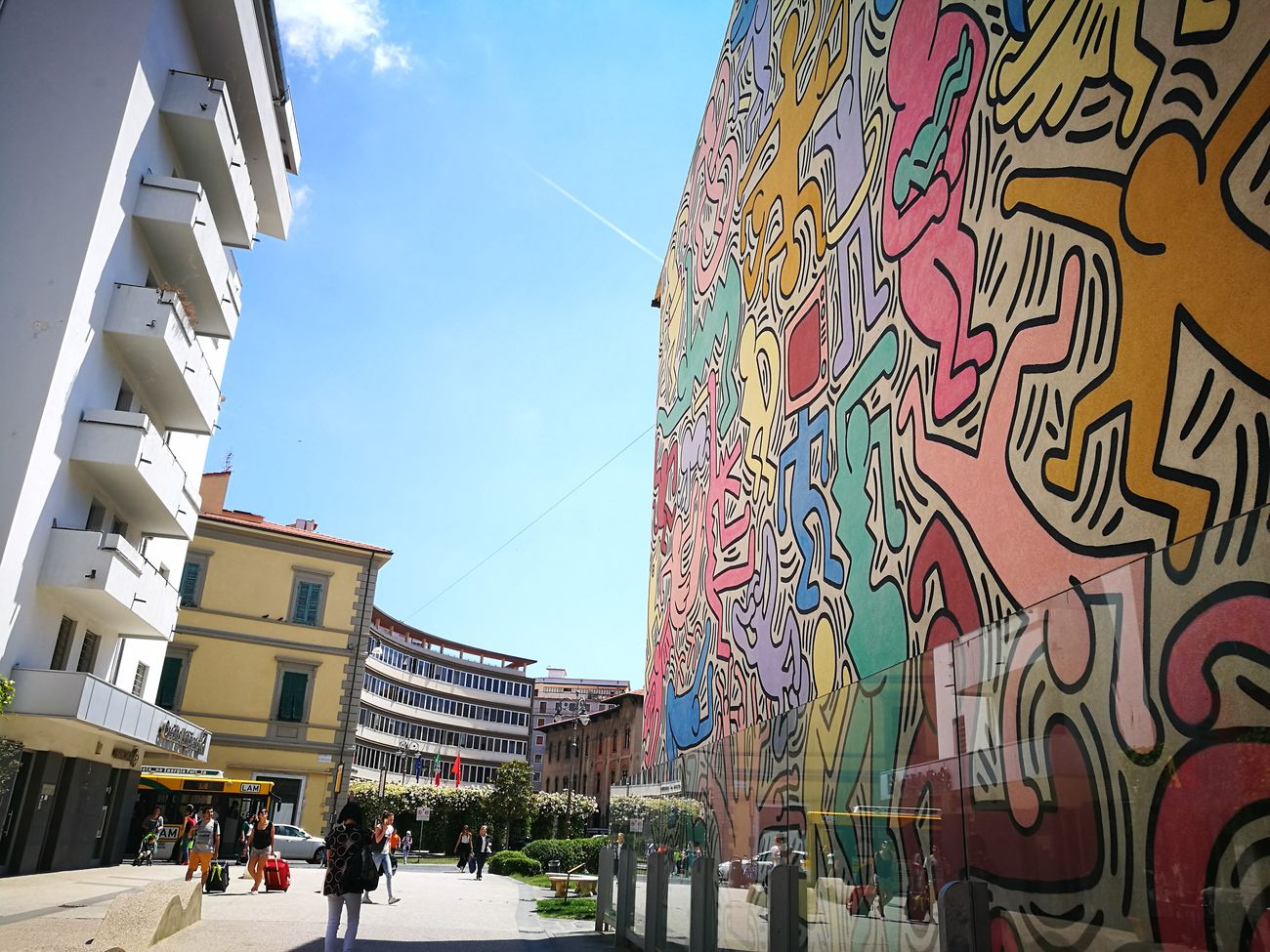 Architecture Building Exterior City City Life Pisa Keith Haring