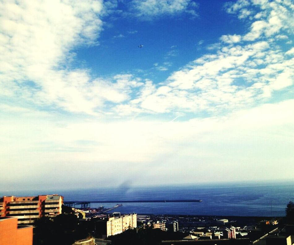 How's The Weather Today? Sky Nuvole Bianche Hi! Forall Soul Throughmyeyes Voltri Genova Home