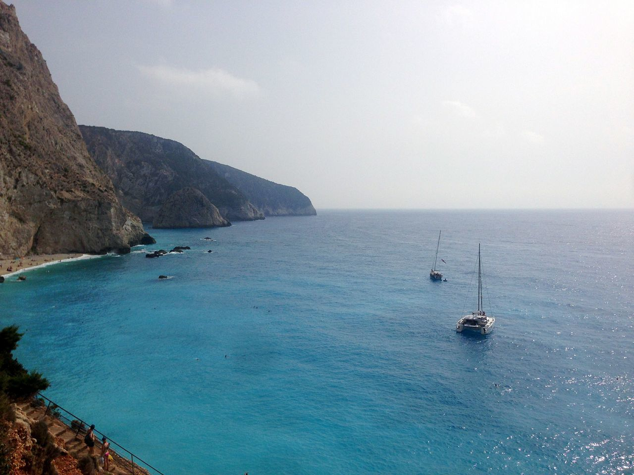 Porto Katsiki Porto Katsiki Beach Lefkada, Greece Sea Nautical Vessel Beach Top 10 Beaches Vacations No People Water Ship Day Travel Destinations Sailing Sailboat Yacht Sky Horizon Over Water Summer Blue Outdoors Tranquility Landscape Nature Scenics