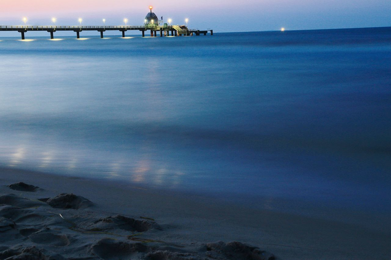 Ostsee Baltic Sea Zinnowitz Landscape Ocean View Ocean Night Nightphotography Learn & Shoot: After Dark Photography In Motion