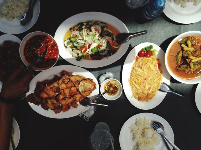 Lunch Thai Foods Lunch Time Outdoor Table For Four Hot Thai Style Chilli Foods Thailand Cusine Spotted In Thailand