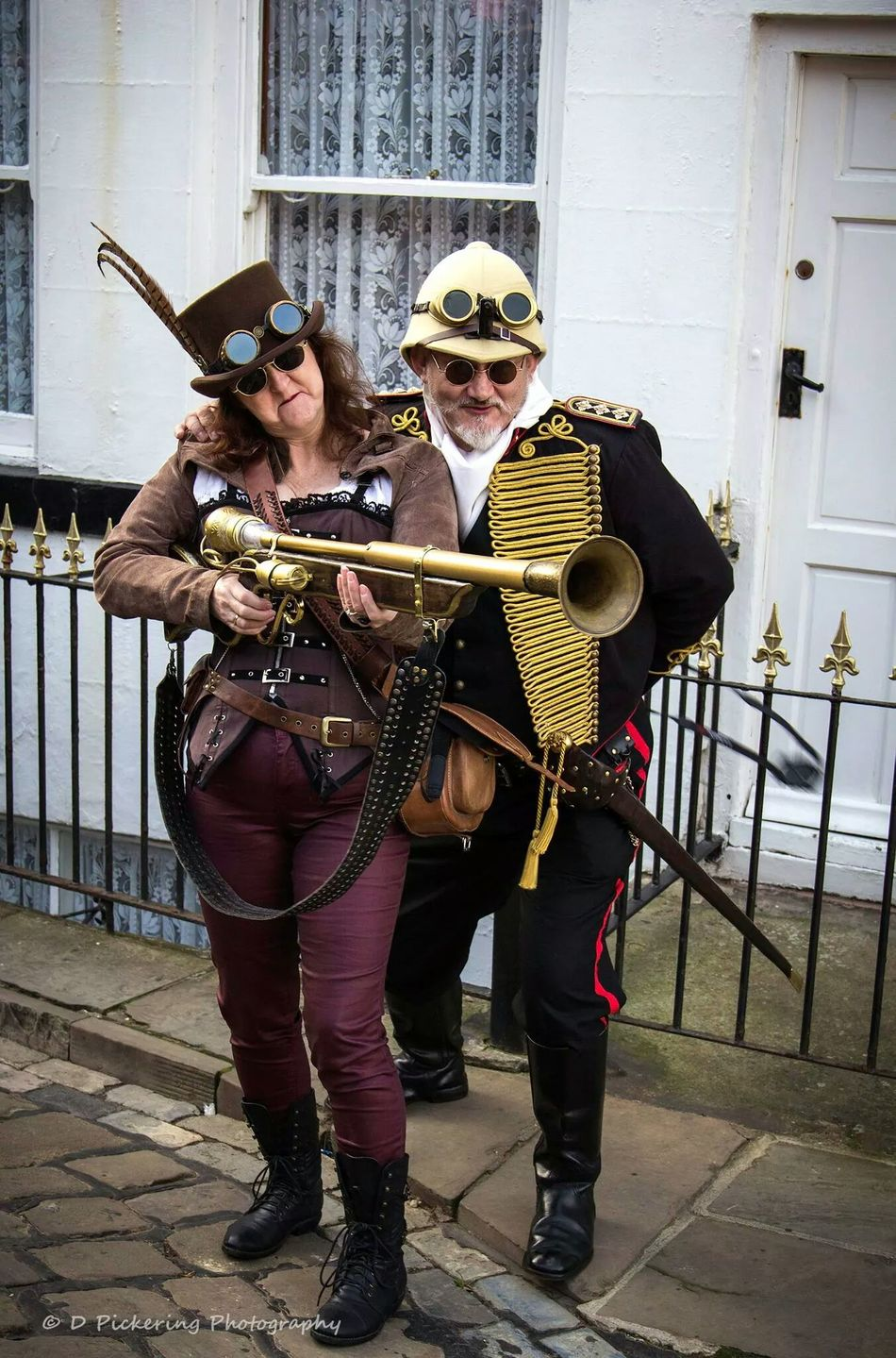 Armed & fabulous Whitby Goth Weekend Steampunk Streetphotography Portrait