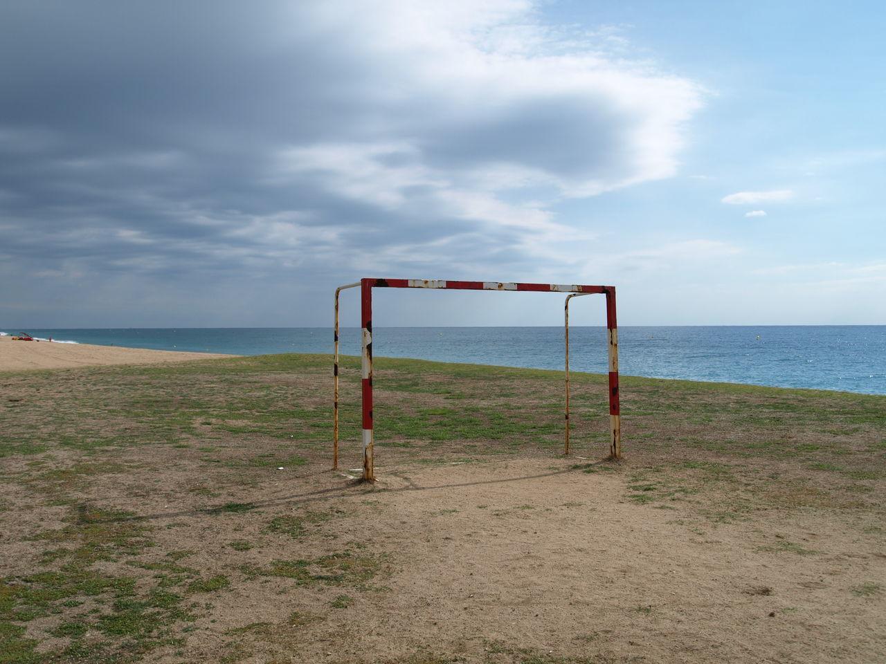 Beach Day Goal Horizon Over Water Nature Outdoors Sand Sea Sky Water