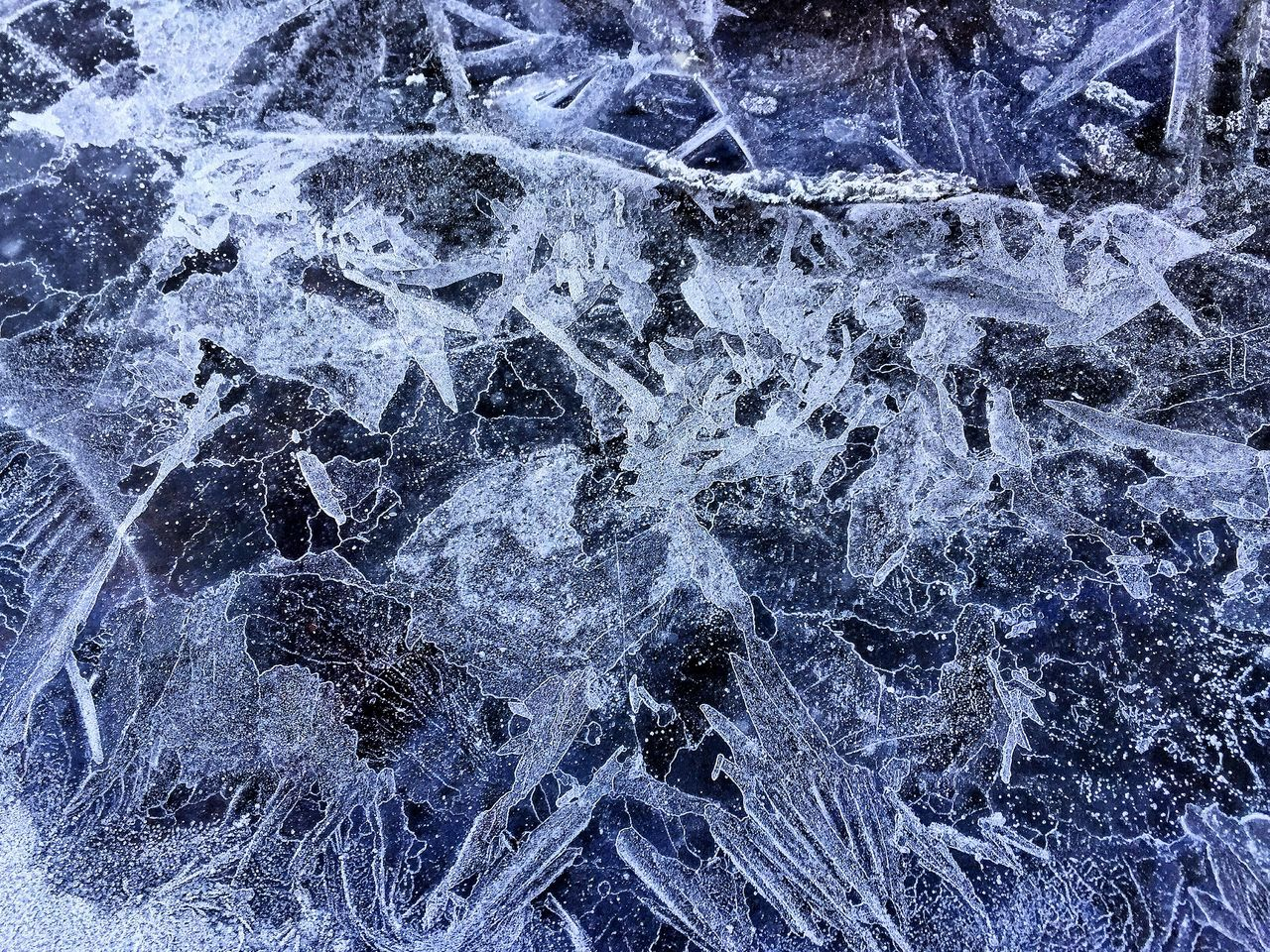 Frozen Ice makes amazing patterns Frost Frosty Ice Frozen Iced Northampton Northants Northamptonshire Uk United Kingdom