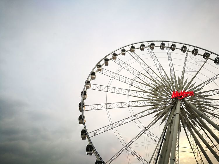 Asiatique Bkk., EyeEmNewHere Adapted To The City Cityscape Cloud - Sky Built Structure No People First Eyeem Photo Outdoors Travel Destinations City Day Asiatique The Riverfront Asiatique Ferriswheel Ferriswheelinthecity🎡🎢 New Talents Still Life StillLife