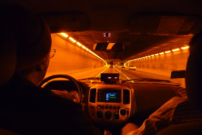 Drive Drive By Night San Francisco Tunnel