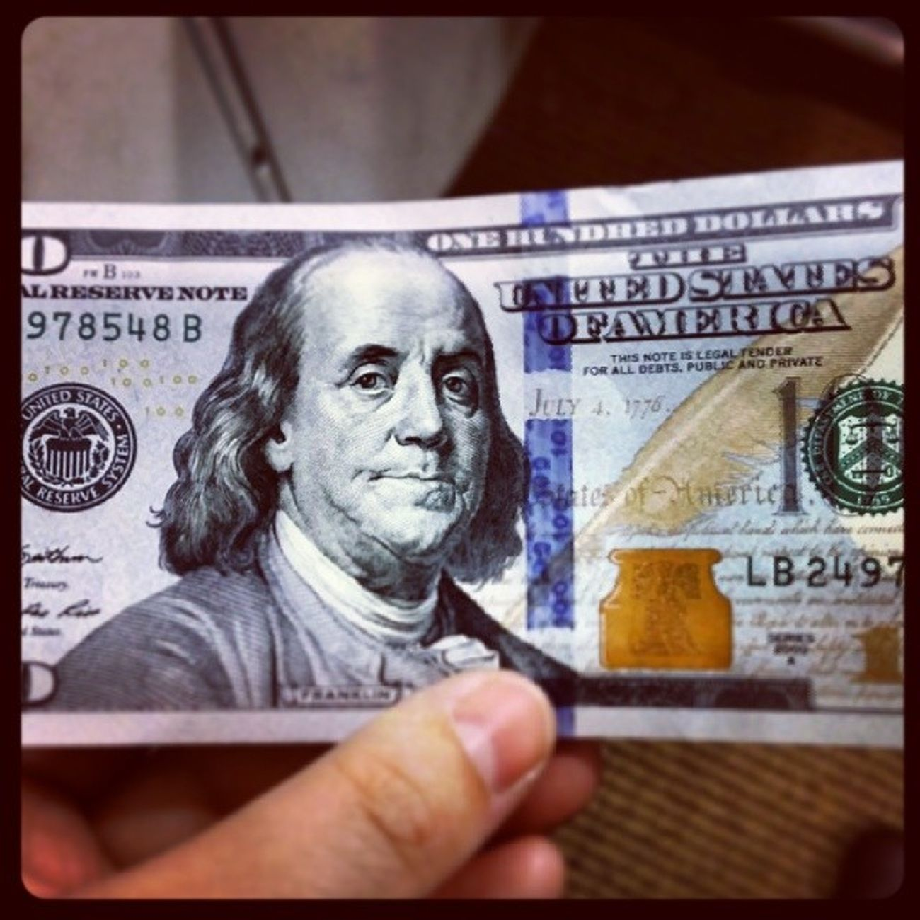 What's up Benjamin! Got a new hundred yesterday. Money President Android Note3