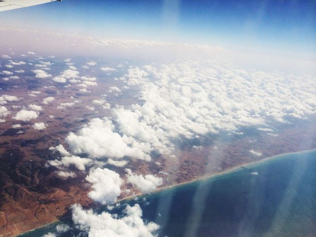 From An Airplane Window Nice View Above The Clouds in Libya Taking Photos Check This Out Hello World Followme