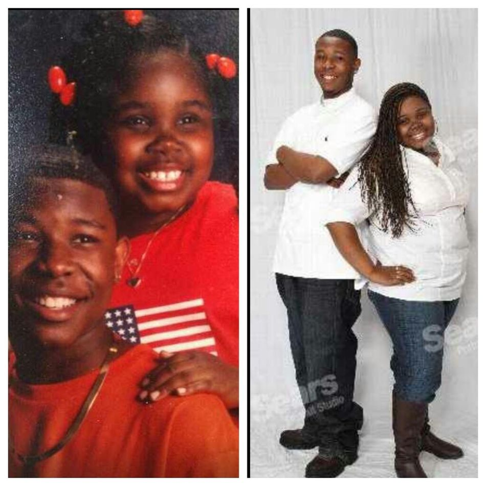 me &my brother...then&now