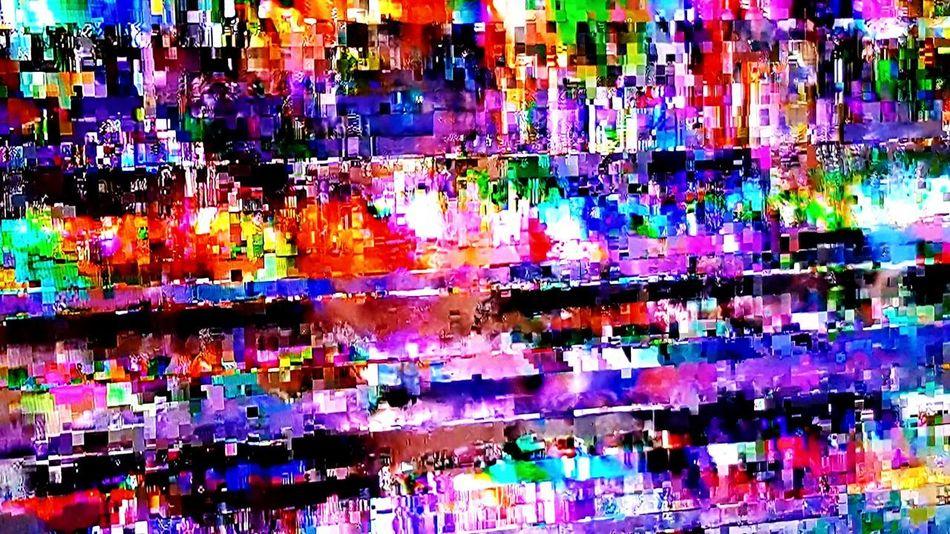 Multi Colored Full Frame Colorful tv weak signal