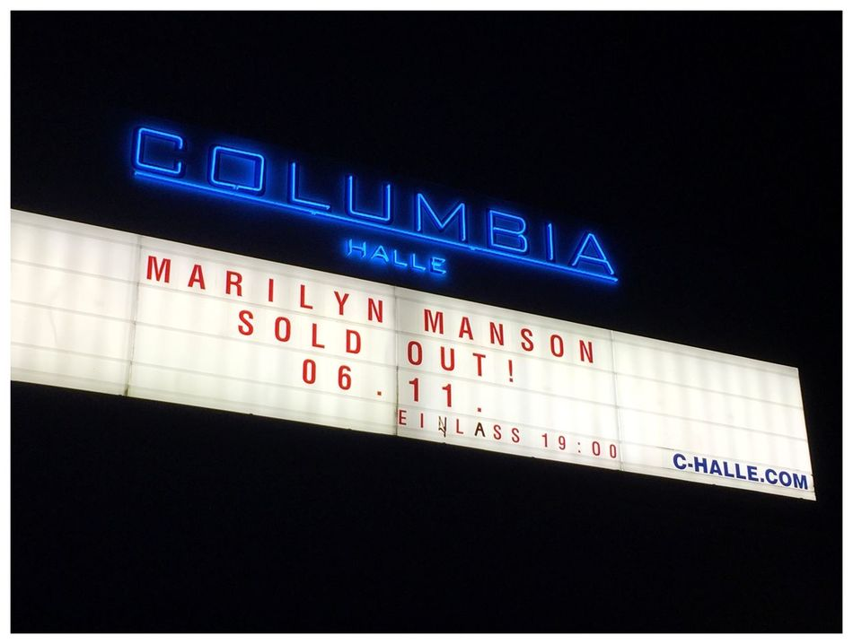 Halleluja Tour Berlin Marilynmanson Columbiahalle