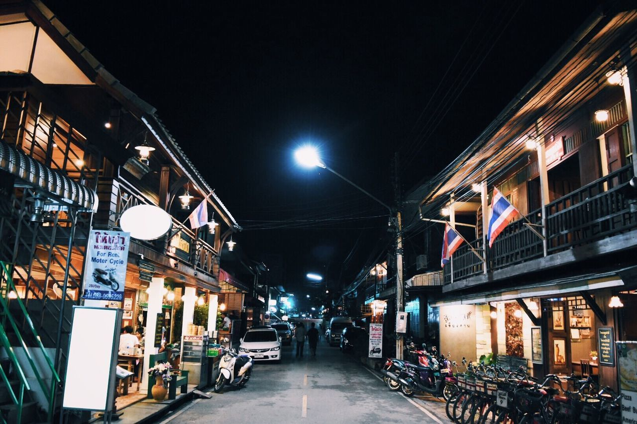 VSCO Vscocam Street Road Night City No People Outdoors Sky Nightlife Night Lights Chiang Khan