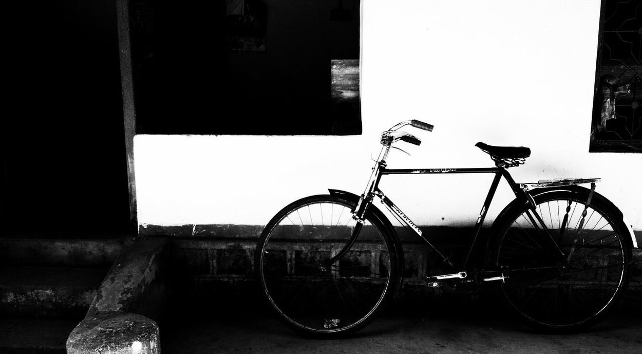Indiansawari Bycycle Monochrome Bicycle Parking Native Vivek5789 EyeEmNewHere Mobilclick Mobile Defects Black & White