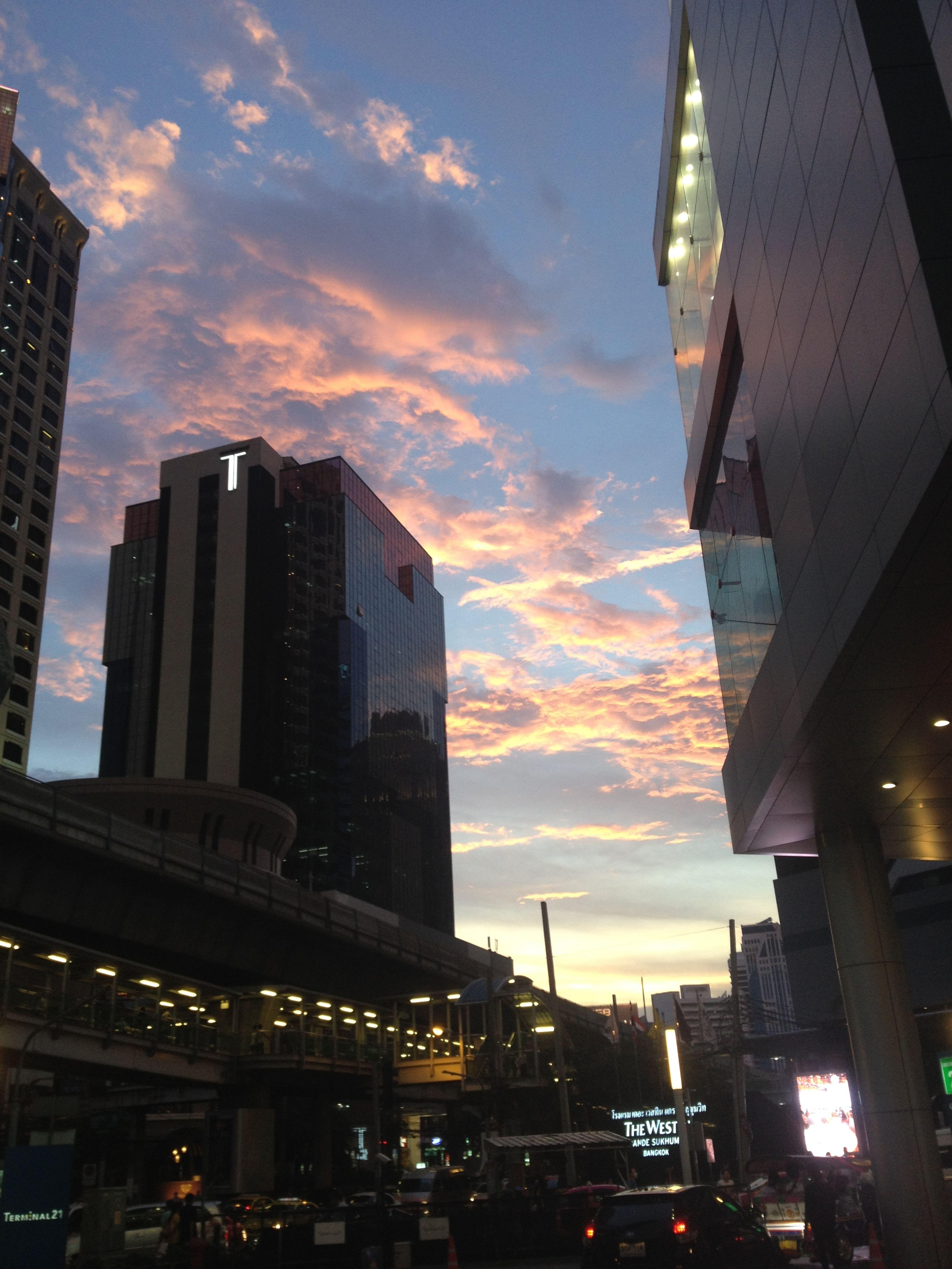 Big City Life Big City Sky Bangkok Thailand. Sunset_collection Sunset Skylovers
