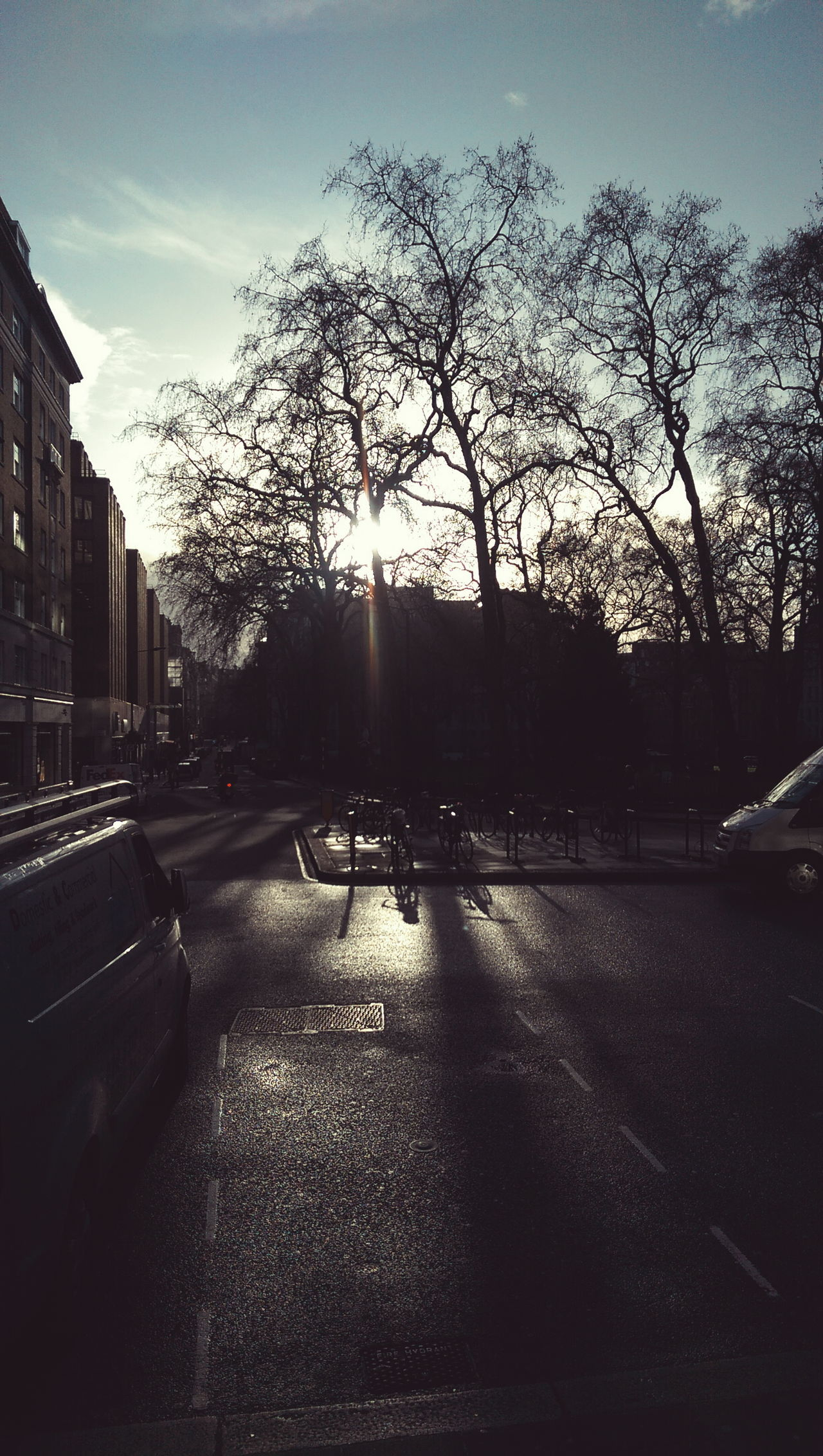 Winter sun Berkeleysquare London Sun Winter