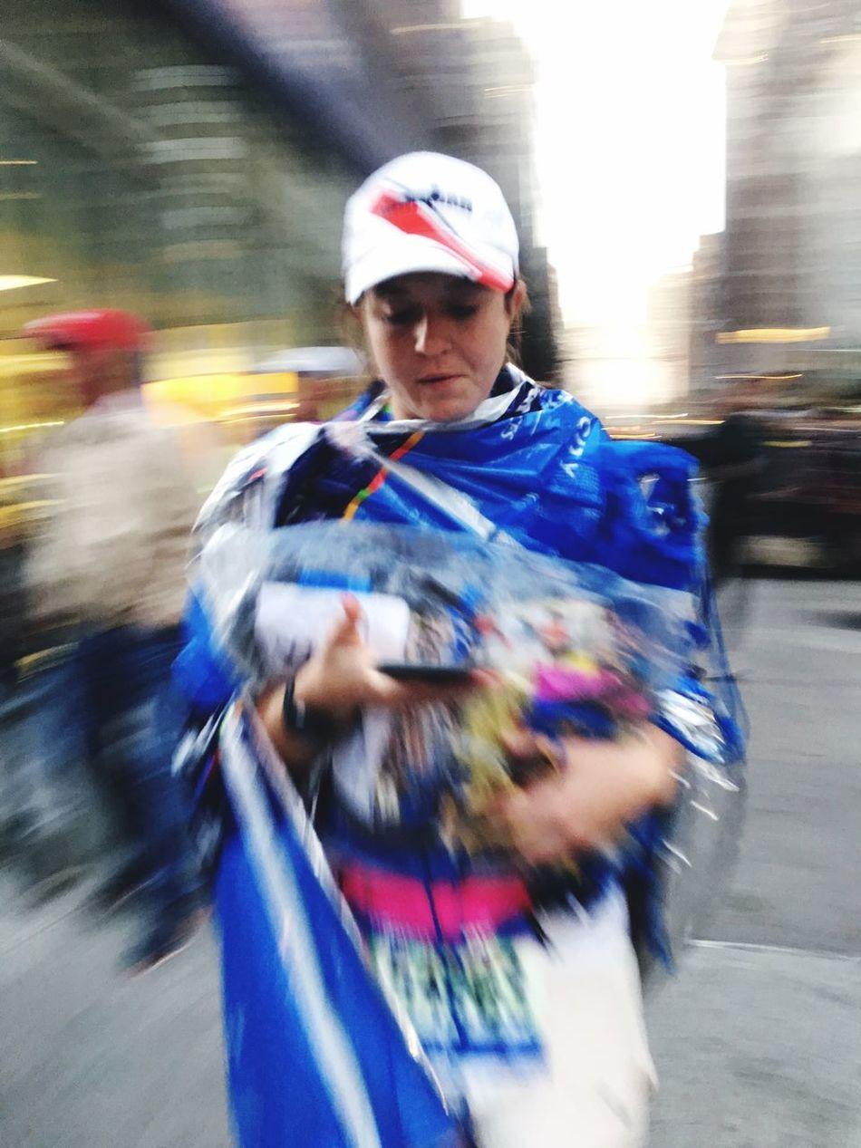 On The Phone... New York Marathon
