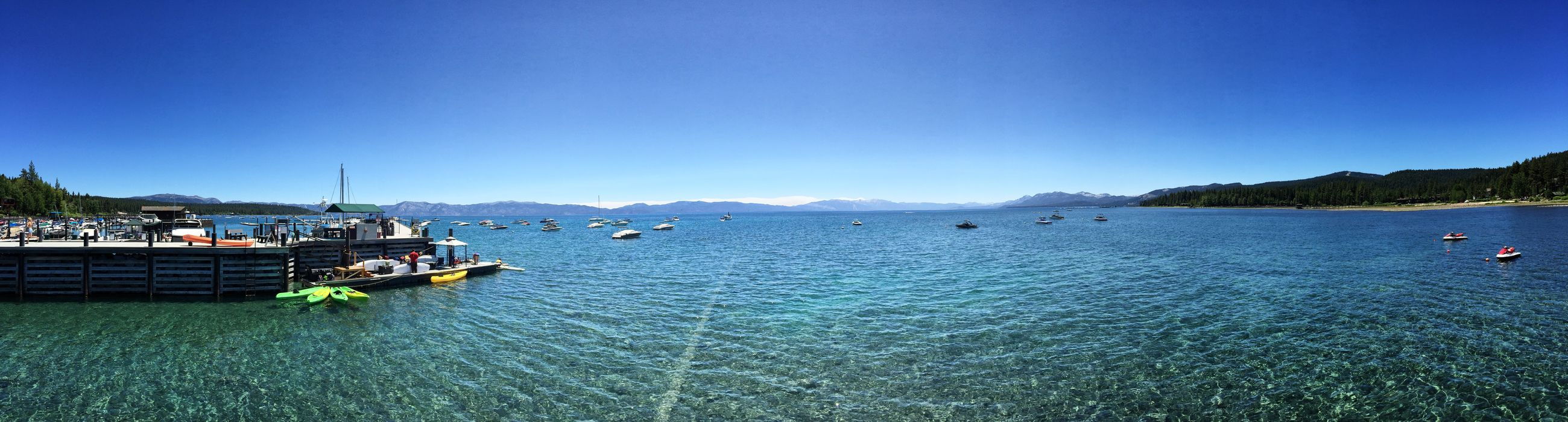 Beauty In Nature Blue Boat Clear Sky Day Horizon Over Land Lake Lake Tahoe Lake View Mountain Range Nature Non-urban Scene Ocean Scenics Sea Seascape Shore Sky Tranquil Scene Tranquility Transportation Water Waterfront