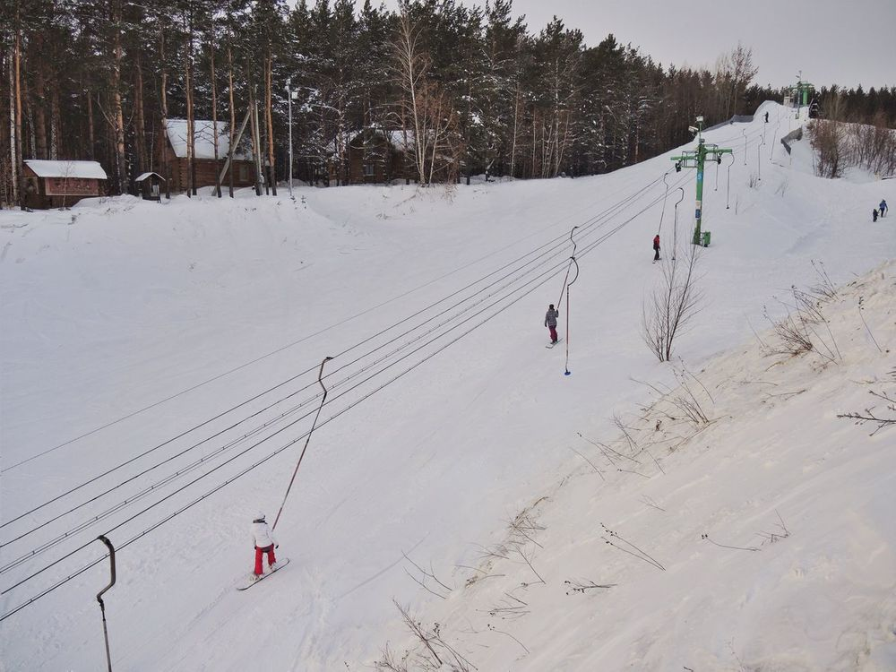 Winter Snow Cold Temperature Weather Real People Nature Ski Track Leisure Activity White Color Lifestyles Adventure Skiing Field Covering Beauty In Nature Day Outdoors Landscape Scenics Tree зима горка лыжи снег каникулы