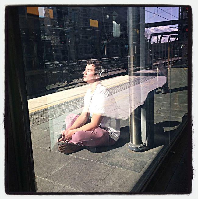 Enjoying the sunlight Commuting Public Transportation Soaking Up The Sun