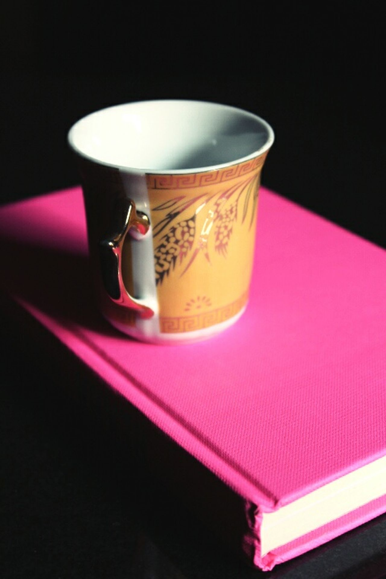 Pink Color Book Bookcover Booklover Cup Check This Out Chai Coffee Pink Golden Golden Cup