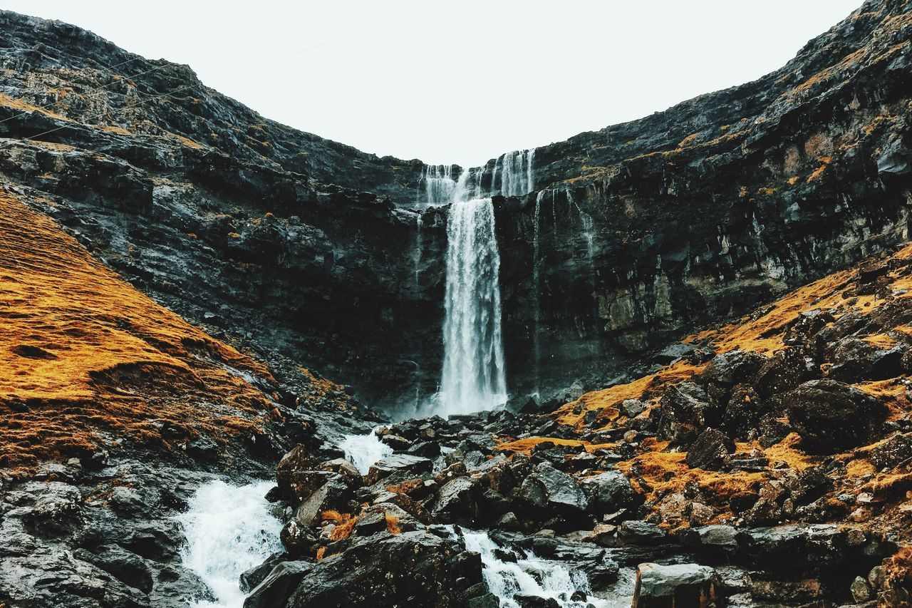 Beautiful stock photos of wasserfall, Beauty In Nature, Clear Sky, Day, Faroe Islands