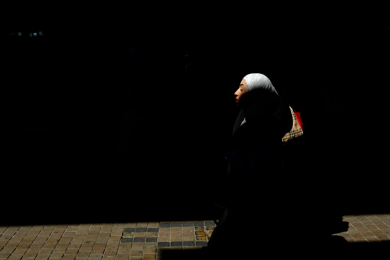Citylight Creative Light And Shadow FilipinoStreetPhotographers Fujixm1 Hijab Kuwait Ligth And Shadows Middle East Myhobbies. One Person Outdoors People Photography Real People Religion Streetphotography Surrealism Traditional Clothing Women
