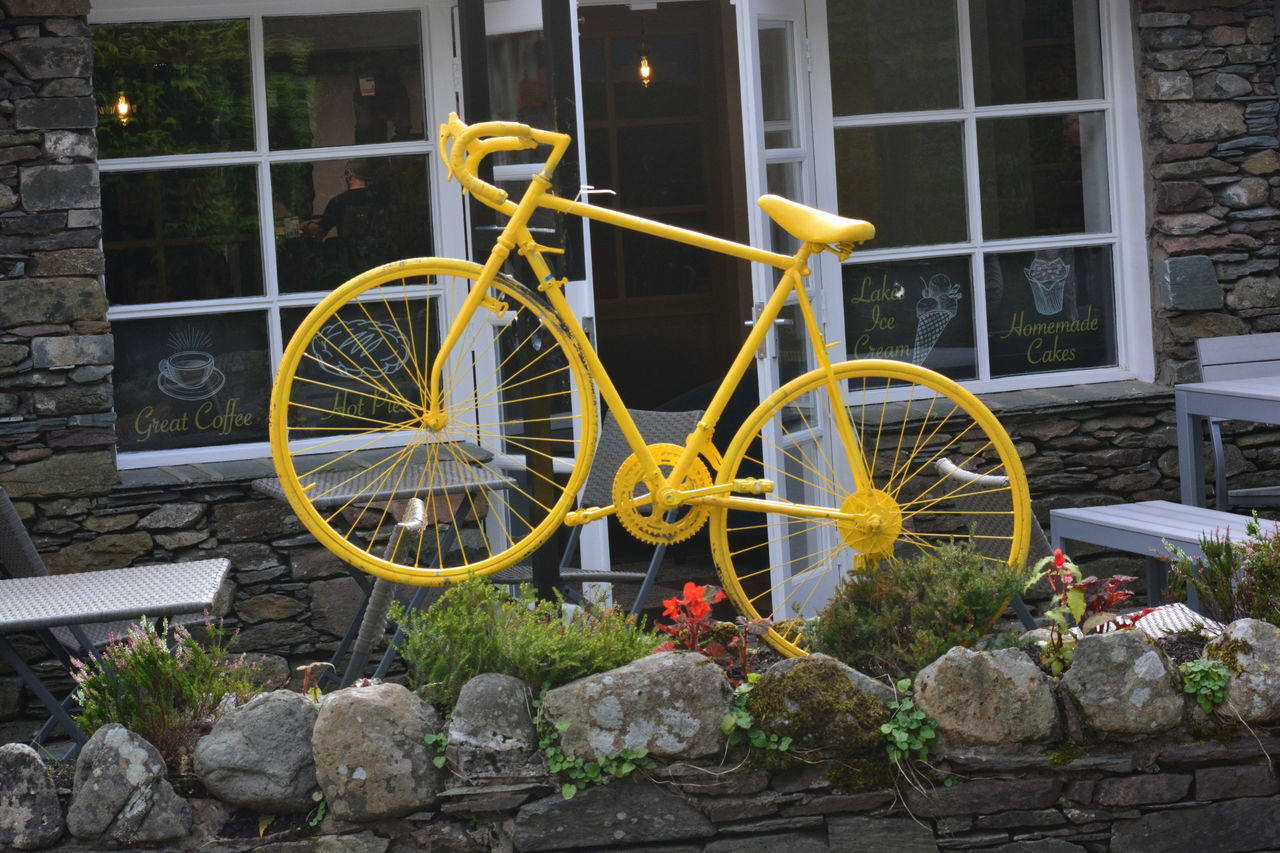 Bicycle Grassmere Mode Of Transport No Filter, No Edit, Just Photography No People Outdoors Transportation Yellow