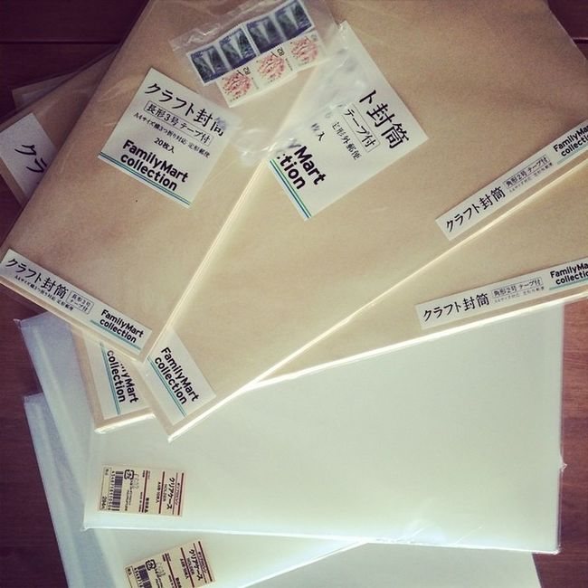封筒と切手を買いました!Warmthinc