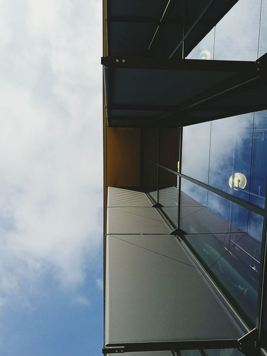 Work's new building. Cloud - Sky Yellow Sky No People Low Angle View Building Architecture The Architect - 2017 EyeEm Awards