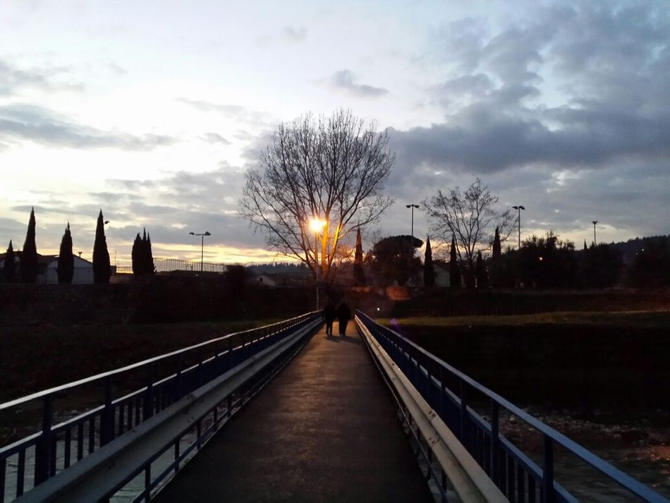 Italy Tuscany Prato Sunset Sky Landscape
