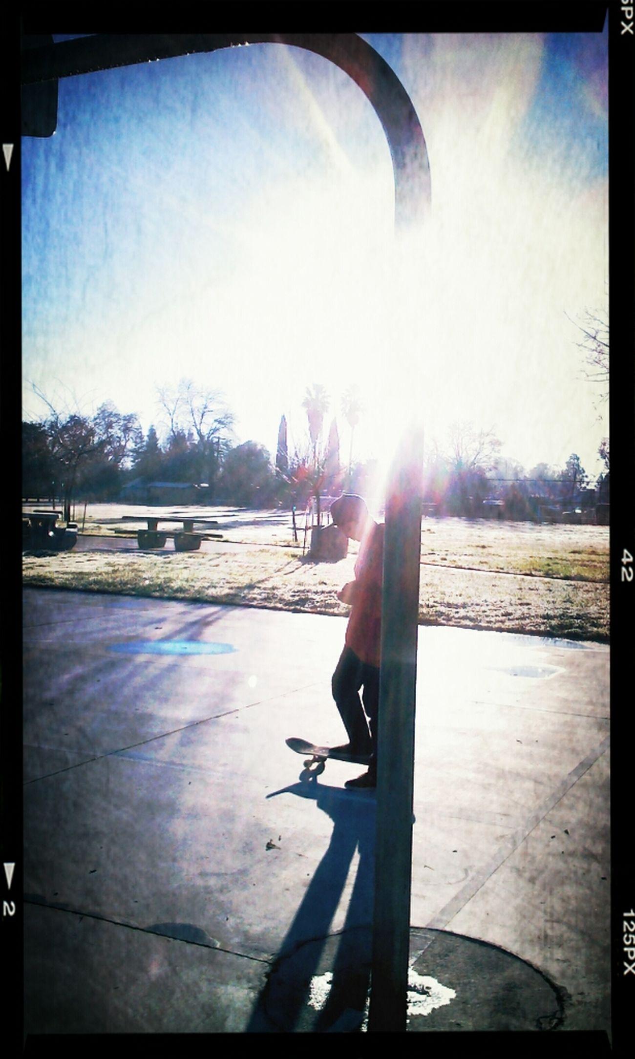 Skateboarding Early Morning Good Morning Early Morning Frost